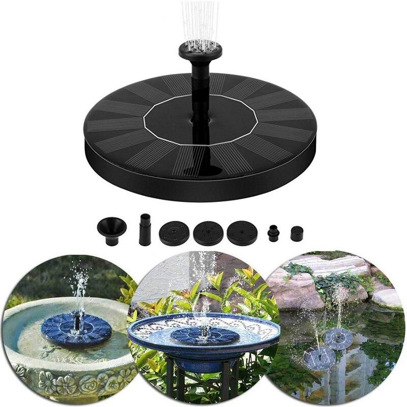 2 W Solaire Jardin Fontaine Pompe Solaire Jardin Fontaines Cascades  Puissance Solaire Oiseau Fontaine Alimenté Pompe à Eau Bain D\'oiseau  Fontaine