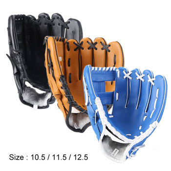 Outdoor Sports trzy kolory rękawice do baseballu Softball sprzęt treningowy rozmiar 10 5 11 5 12 5 lewa ręka dla dorosłych mężczyzna kobieta pociąg tanie i dobre opinie Boodun Dziecko HW10A478 Lewy Dzban s glove
