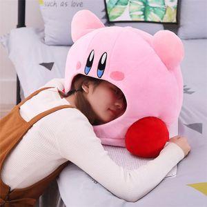 Image 4 - Cartoon Kirby Gefüllte Plüsch Tier Hut Plüsch Puppe Kopfbedeckungen Kissen Nickerchen Baby Geburtstag Spielzeug