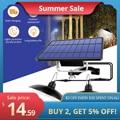 Водонепроницаемый двойной светильник на солнечной батарее, IP65, подвесной светильник с кабелем и дистанционным управлением, для ярдов, сада,...