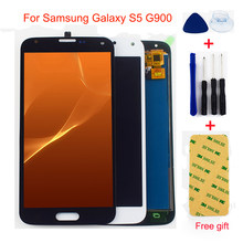 G900 LCD For Samsung Galaxy S5 G900 G900T G900V G900A G900F G900M Touch Screen Digitizer Sensor + LCD Display Panel Assembly(China)