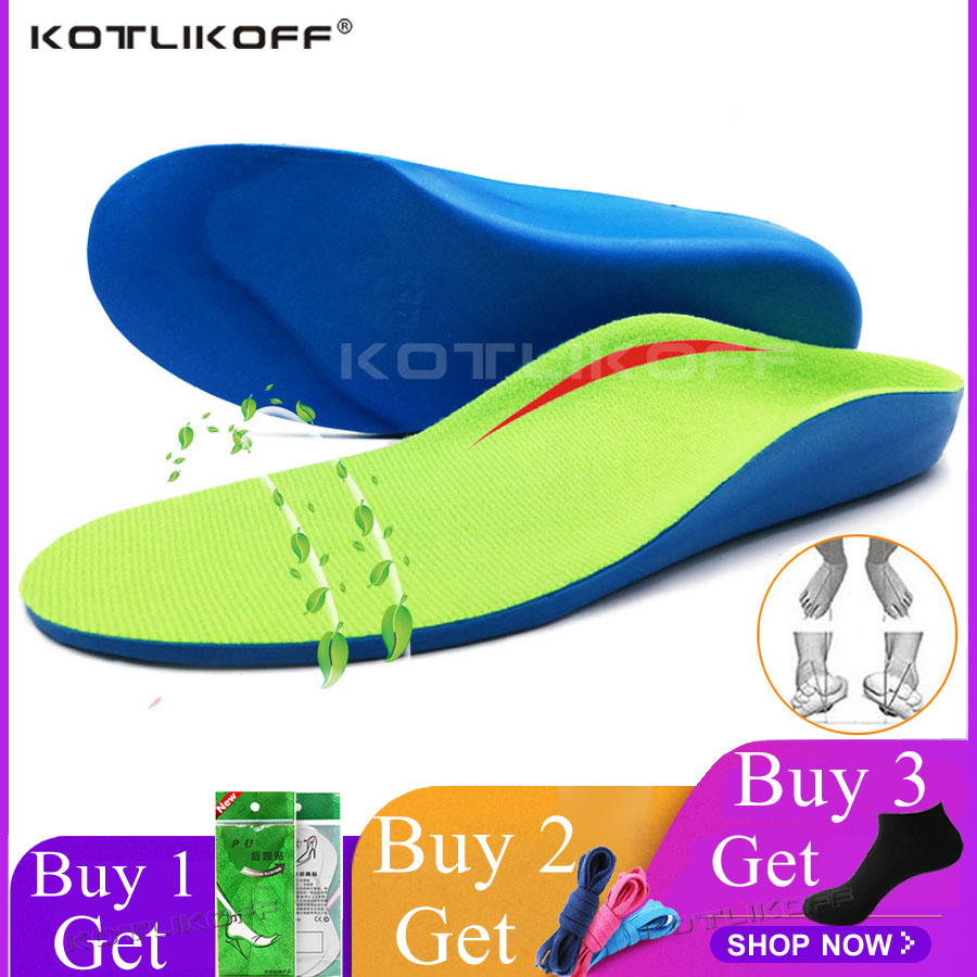 KOTLIKOFF Children Kid Orthopedic Shoes Insoles Flat Foot Arch Support Orthotic Pads Correction O/X Type Leg Foot Valgus Insoles