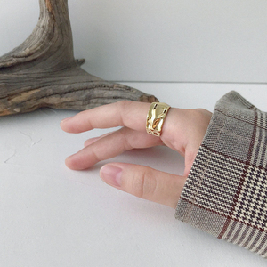 Image 4 - 925 Anillos de Plata esterlina Irregular ajustable Para Mujer, anillo de Corea hecho a mano, Anillos de Plata 925 Para bisutería Para Mujer, joyería 2019