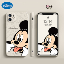 Capa de silicone líquido original da disney 2021 mickey minnie para iphone 12 11 pro max xr xs x 7 8 se capas de telefone anime