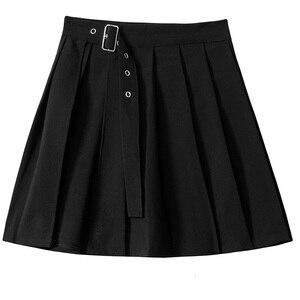 Image 4 - [Eam] feminino xadrez plissado dividir duas peças camisa vestido nova lapela manga longa solto ajuste moda maré primavera outono 2020 1d7110