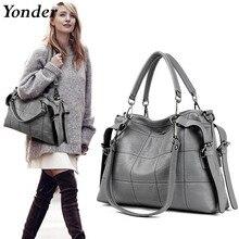 Yonder العلامة التجارية حقائب النساء الموضة الإناث Crossbody حقائب كتف للنساء 2020 حقيبة يد فاخرة جلدية رمادي حقائب اليد السيدات