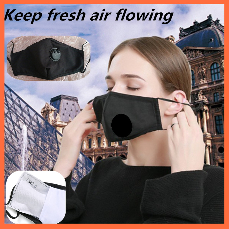 1 Pcs Mask Dust Mouth Mask Anti Virus Splash Upgraded Version Men Women Anti-fog Haze Dust Pm2.5 Pollen Mask + Mask Filter