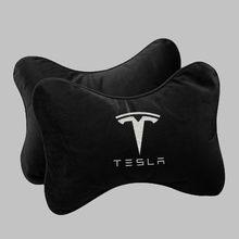 2x encosto de cabeça pescoço travesseiro para tesla model 3 modelo s x coxim com alça ajustável carro assento interior acessórios