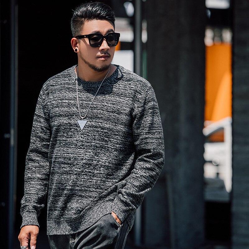2019 inverno novo 5xl 6xl 7xl plus size super solto estilos blusas masculino pulôver de malha tamanho grande XXL 7XL casual suéter - 2