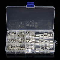 """100pcs 5/16"""" 3/8"""" Tinned Plated Copper Ring Battery Crimp Terminals Connector Cable Lugs Eyelet Electrical Supplies Bolt Hole