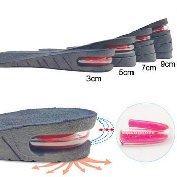 3-9cm wysokość zwiększenie wkładki z poduszką powietrzną wysokość podnoszenia regulowany obcas buta wkładka Taller wsparcie Absorbant podnóżek tanie i dobre opinie COSYLEE 5 cm-8 cm Średnie (b m) WS52 Stałe Anti-śliskie Wytrzymałe Pot-chłonnym Szok-chłonnym Dezodoryzacji Oddychająca