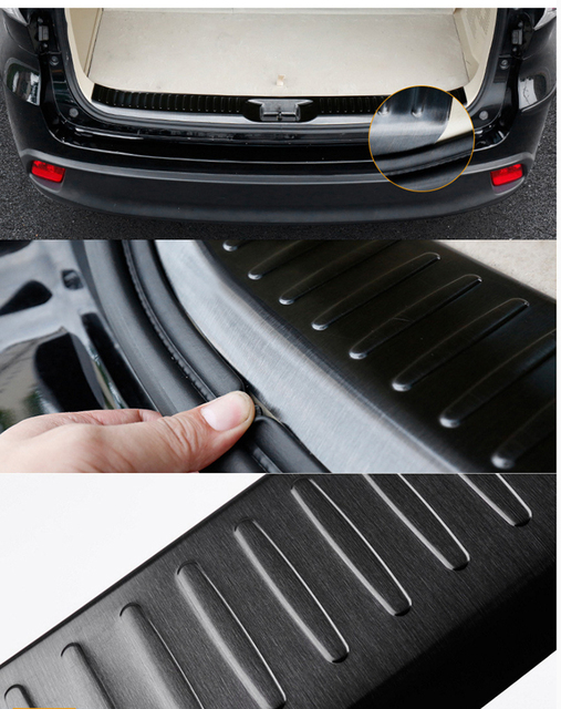 Stainless steel Rear Guards Bumper Trunk Fender Sill Plate Cover Molding For Toyota Highlander 15 16 17 18 Exterior Accessories 4