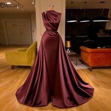 Abendkleider 2020 бордовое марокканское платье кафтан мусульманское