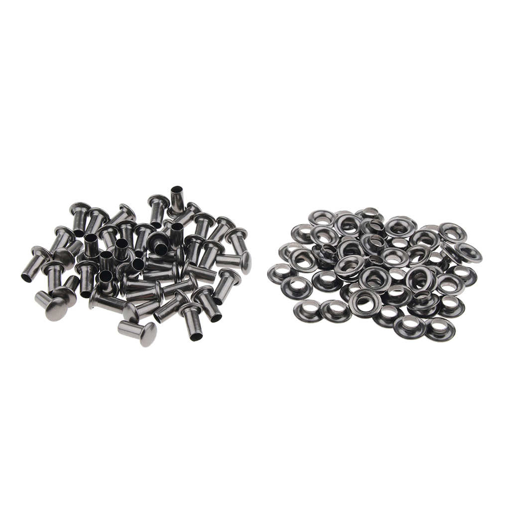 20 Sets Speed Shoe Lace Hooks Lace Fittings with Rivets for Climb Hiking Shoes Work Outdoor Mountaineering Boots