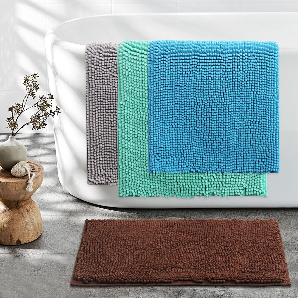 New Style Chenille Floor Mat Anti-slip Door Mat Toilet Bathroom Anti-slip Hydrophilic Pad TPE Chenille Blanket