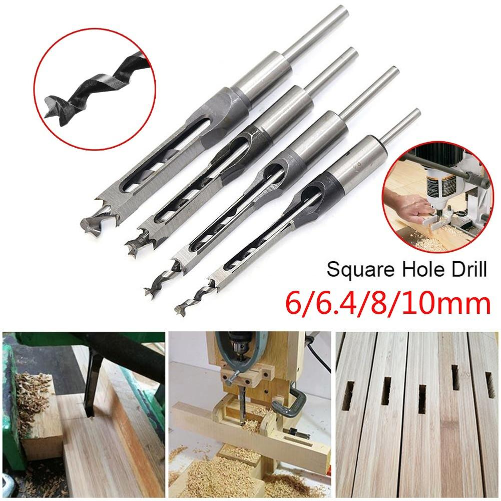 6/6.4/8/10/12.7mm HSS Square Hole Drill Bit Mortising Chisels Woodworking Tool This Mortising Chisel Set Is Great For Drilling