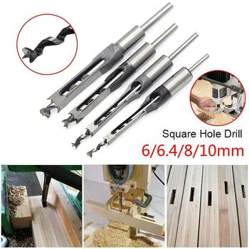 6/6.4/8/10/12.7mm HSS Square Hole Drill Bit Mortising Chisels Woodworking Tool This mortising chisel set is great for drilling image
