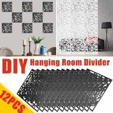 Panels Partition-Divider Hanging-Screen Home-Decor for DIY 12pcs/Set