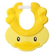 Шапочка для шампуня для младенцев, с защитой от воды и широкими полями