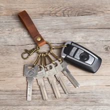 Keychains Genuine-Leather Brand-New Pocket Gift Women for Car-Key Clip-Ring Handmade-Accessories