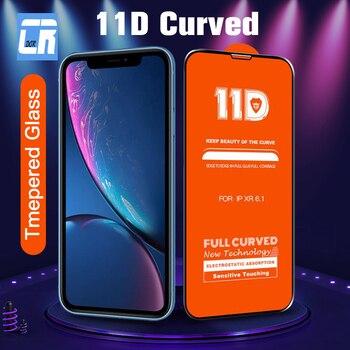 Vidrio Protector de la cubierta completa curvada 11D para el iPhone 11 Pro X XR XS Max vidrio templado para el iPhone 7 8 6S Plus película protectora de pantalla