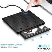 Slim External DVD CD Drive High Speed USB 3.0 CD DVD Optical Drive Burner Writer Recorder For Laptop Desktop Computer Office