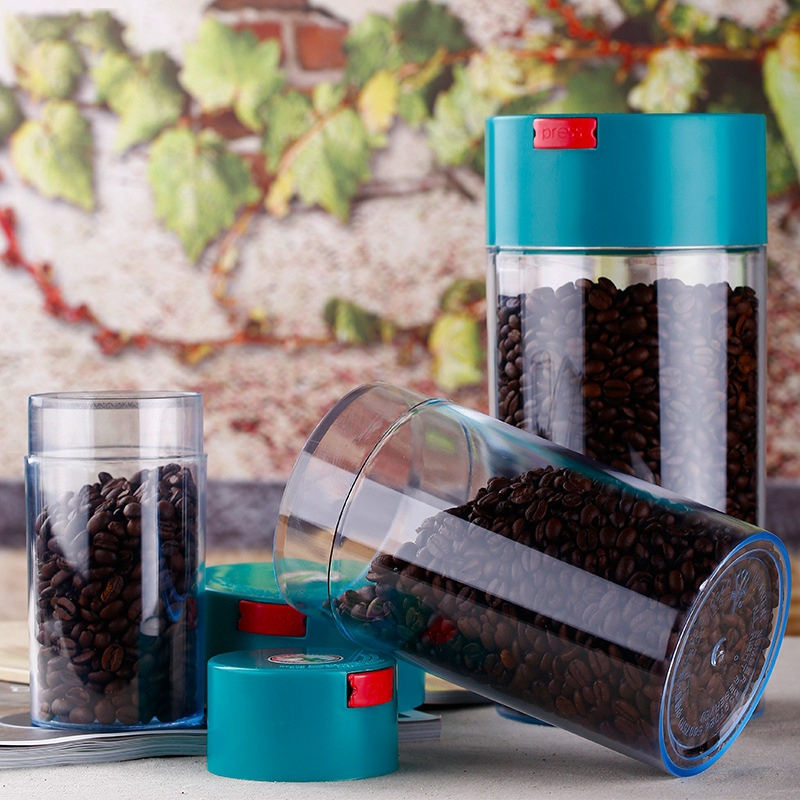 3Pcs Kitchen Food Storage Container Set -Coffee Beans Candy Box Fruit Fresh Saver Grain Transparent Sealed Cans(S,M,L) 6