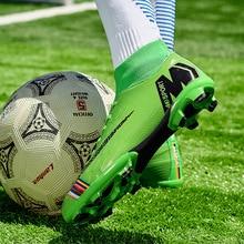 Мужская футбольная обувь, футбольные бутсы, высокие шипы, TF шипы, кроссовки, мягкие, для помещений, для газона, футбольные бутсы, для мужчин, Zapatos De Futbol