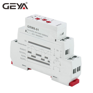 Image 2 - GEYA Din Rail Type Heating Cooling Temerature Control Relay with Sensor AC/DC24V 240V 16A Electronic Relays with Sensor