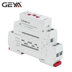 Image 2 - GEYA Din السكك الحديدية نوع التدفئة التبريد التحكم في درجة الحرارة التتابع مع الاستشعار التيار المتناوب/DC24V 240V 16A التبديلات الإلكترونية مع جهاز استشعار