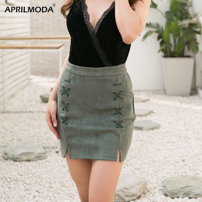 Harajuku, женская короткая юбка, замшевая, одежда для бизнеса, офиса, высокая талия, повседневная, облегающая, высокая талия, карман, мини-юбка