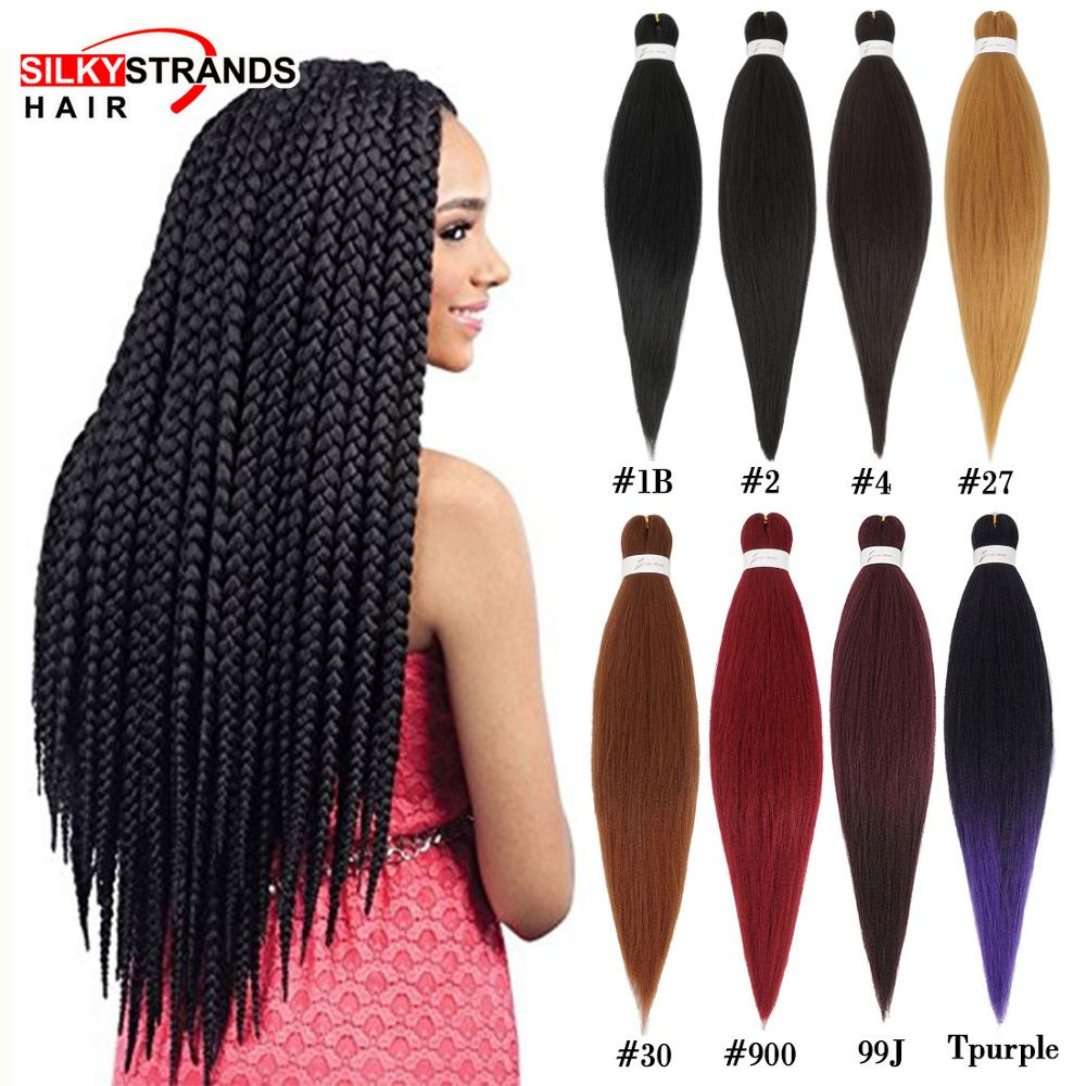 Soft Pre-Stretched Itch Free Synthetic Braiding Hair Silky Strands 90g 26inch Crochet Braiding Hair