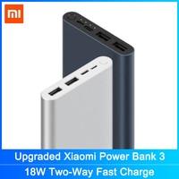 Xiaomi Mi Power Bank 3 10000 mAh Externe Batterie tragbare charginQuick Ladung 10000 mAh Power Unterstützt 18W Lade