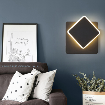 post modern nordic arylic LED Sconce Wall Lamp modern for living room bedroom color changing lights led lamp fixture