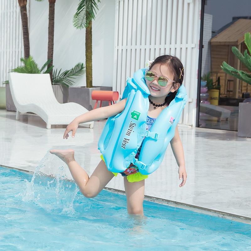 Детский спасательный жилет, детская плавающая куртка из ПВХ, плавучий надувной поплавок для детей, спасательный жилет для плавания на лодка...