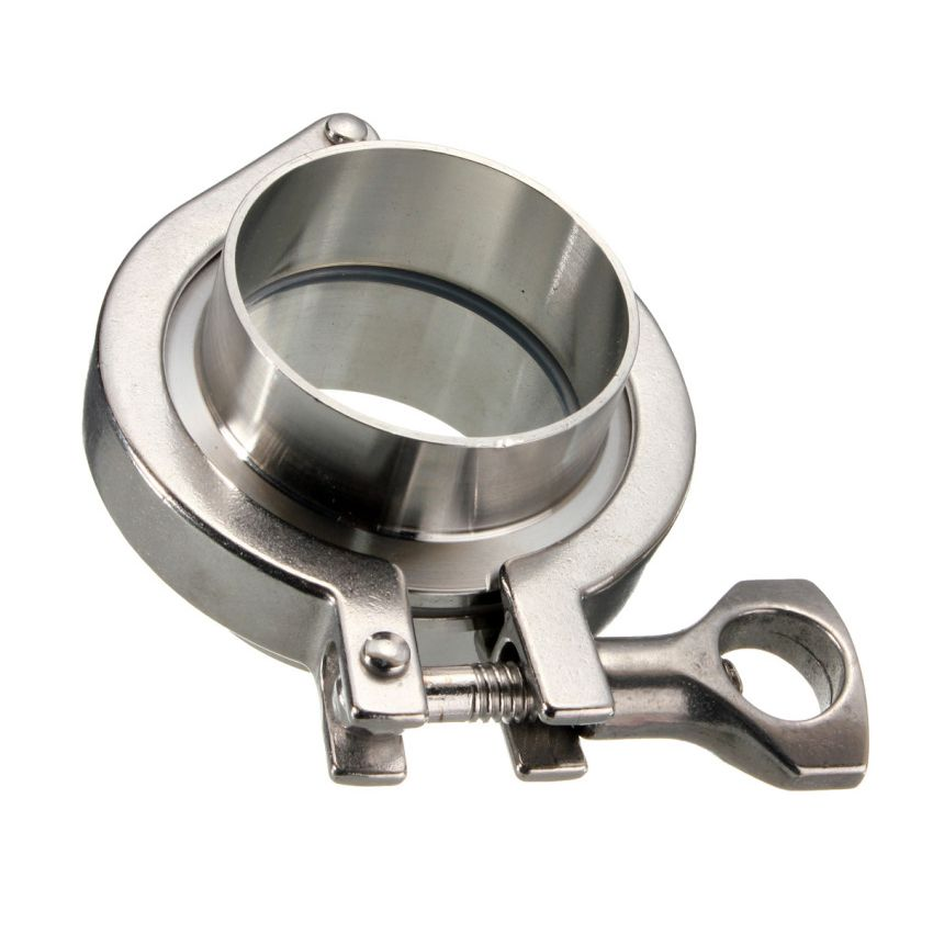 Triclamp SS Sanitary Flange Pipe Weld Welding Ferrule +Tri Clover Clamp + Silicone Gasket Stainless Steel SUS 304