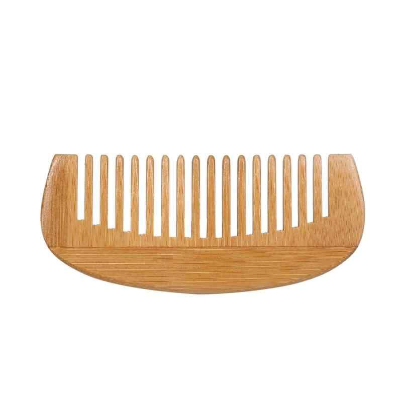 1 PC Bambu Alami Rambut Kayu Sisir Anti-Statis Pijat Sikat Rambut Sisir Rambut Kepala Perawatan Rambut Halus alat TSLM2