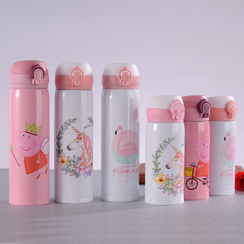 Hot Sales Insulated Stainless Steel Bottle Bounce Cup Unicorn Cup Creative Car Mounted Glass Business Gift Cup|Sports Bottles| |  - title=