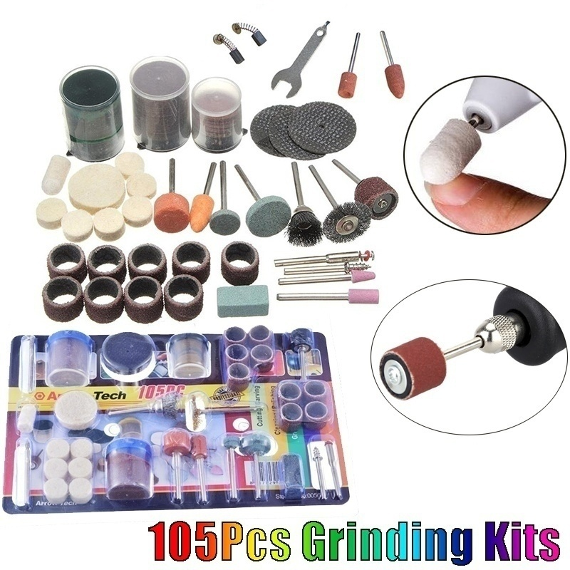 105 Pcs  Multi-function Electric Grinding Kits For 110-230V AC Regulating Speed Drill Grinder Tool (Size: 105Pcs Grinding Kits)