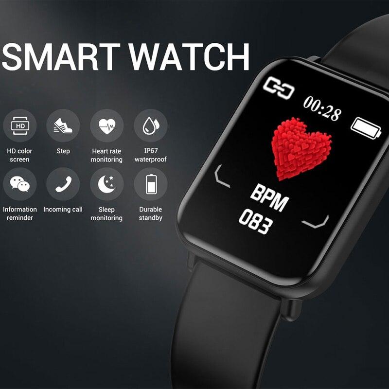 Image 2 - بلوتوث 4.0 ساعة ذكية الرجال مقاوم للماء IP68 Smartwatch النساء ضغط الدم النشاط ساعة تعقب الرياضة الذكية لنظام أندرويد Iosالساعات الذكيةالأجهزة الإلكترونية الاستهلاكية -