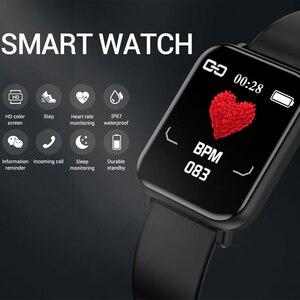 Image 2 - Bluetooth 4.0 inteligentny zegarek mężczyźni wodoodporny IP68 Smartwatch kobiet ciśnienia krwi zegarek z opcją śledzenia aktywności Smart Sport dla Android Ios