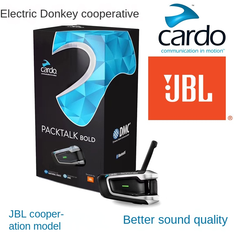 Make For Cardo Packtalk JBL Version Motorcycle Riding Helmet Bluetooth Intercom Communication Headset