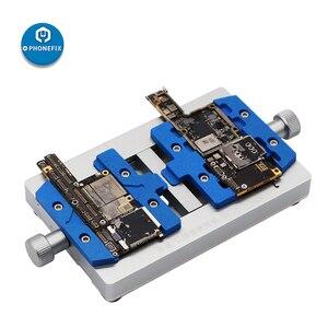 Image 1 - Mj k23 duplo eixo pcb suporte de solda para o reparo do iphone placa mãe reparação de solda dispositivo elétrico para samsung ferramenta de reparo de soldagem