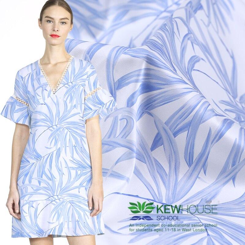 108cm numérique imprimé tissu de soie mètre 19 mm soie stretch satin tissu cheongsam robe spandex tissu en gros tissu de soie