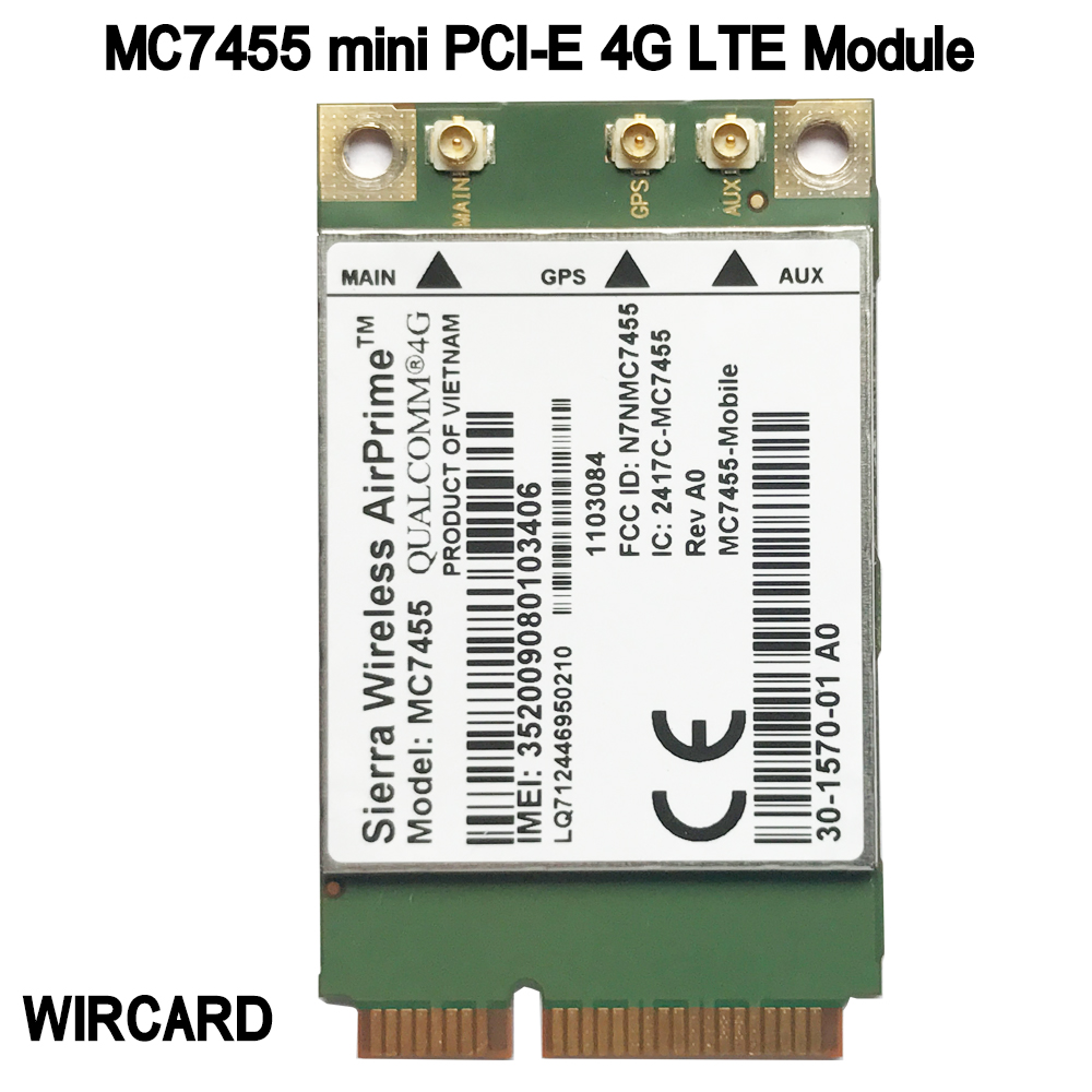 MC7455 LTE 4G Card Mini PCI-E FDD-LTE TDD-LTE 4G Module Cat6 For Laptop