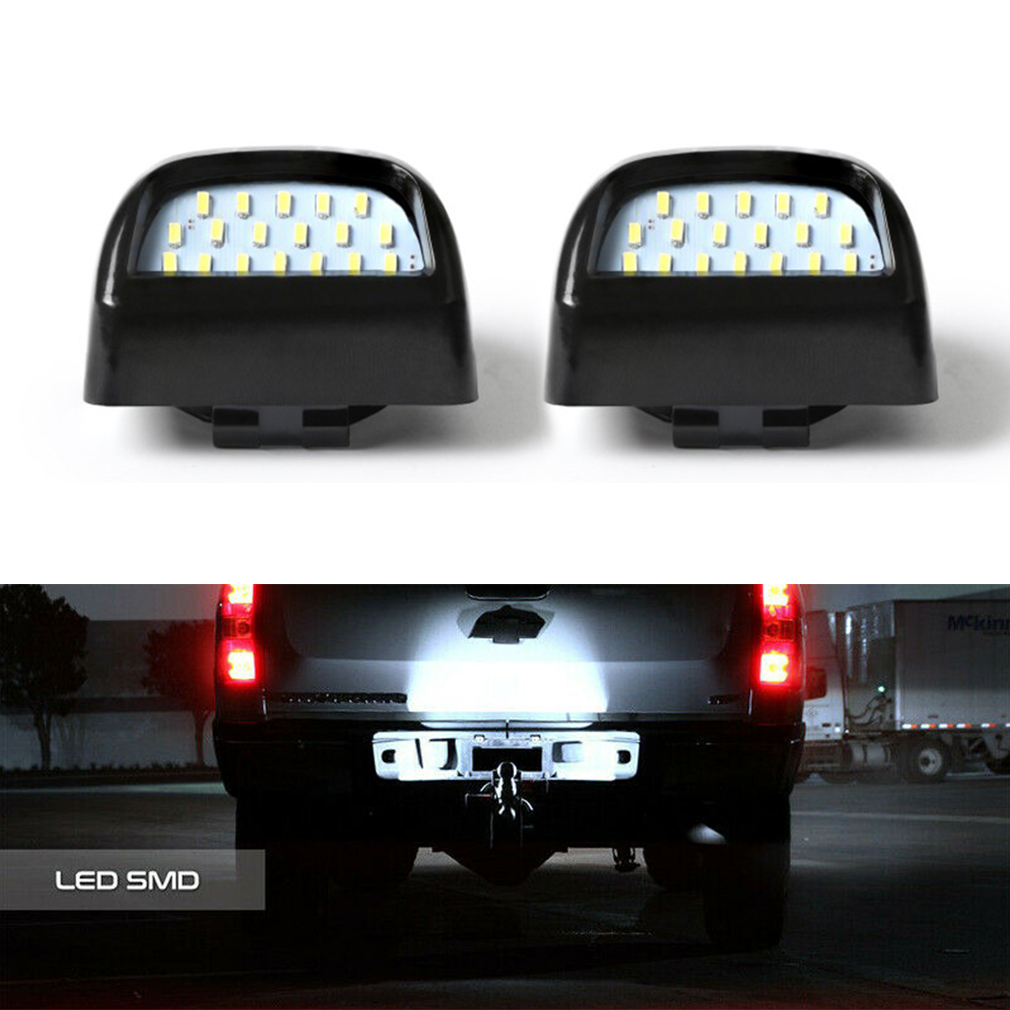 For Cadillac Chevy Avalanche GMC Yukon Sierra License Plate Light Lamps Bulbs White error free