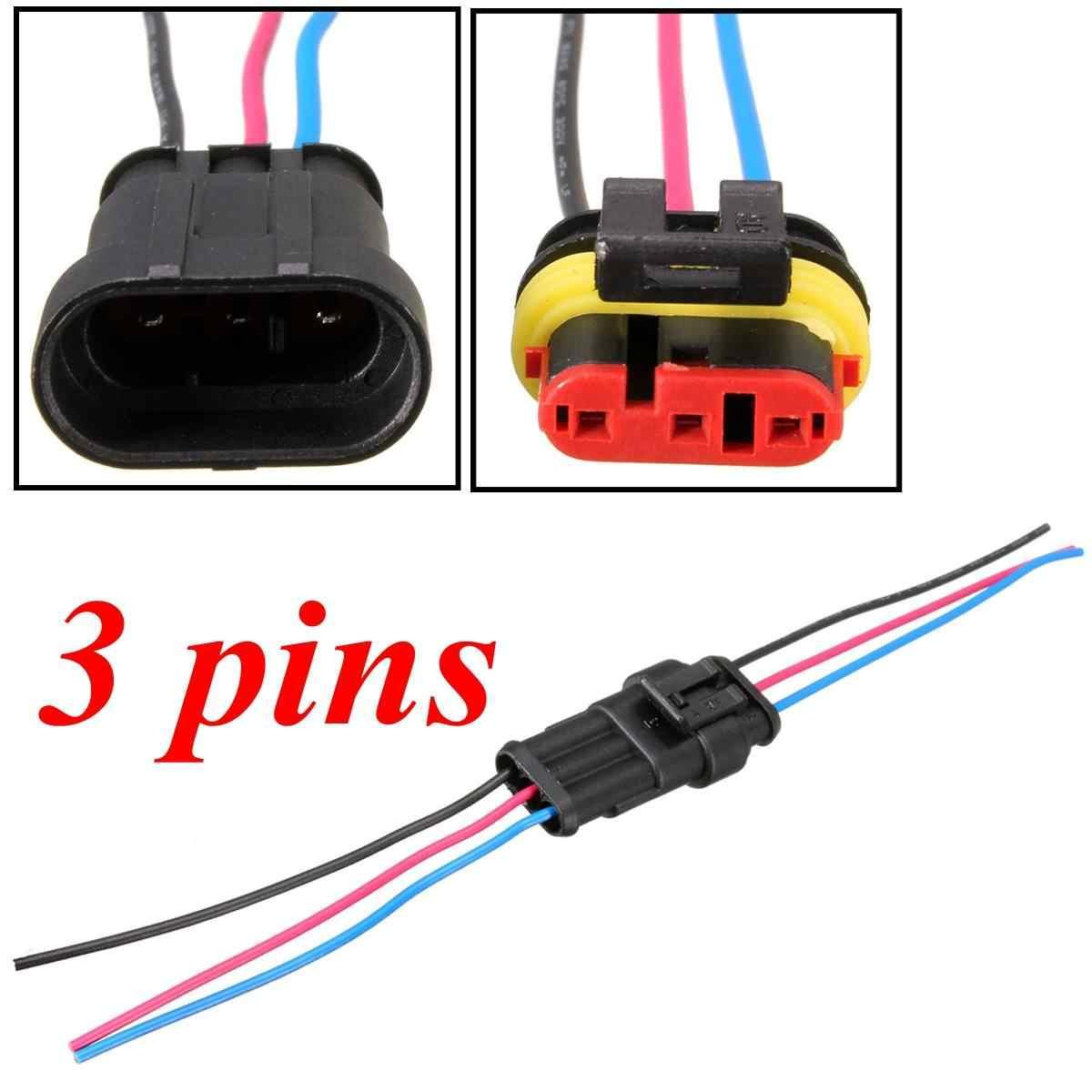 1/2/3/4/5/6 Pin motocykli samochodowych wodoodporne złącze elektryczne wtyczka w/ 10cm drutu Auto złącze męskie i żeńskie kabel drutu dia 2.1