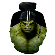 Nieuwe Mode Mannen Vrouwen Kinderen Sweatshirt 3D Print Movie Hulk Hoodies Cool Lange Mouw Marvel Superhero Tops Casual Trui(China)