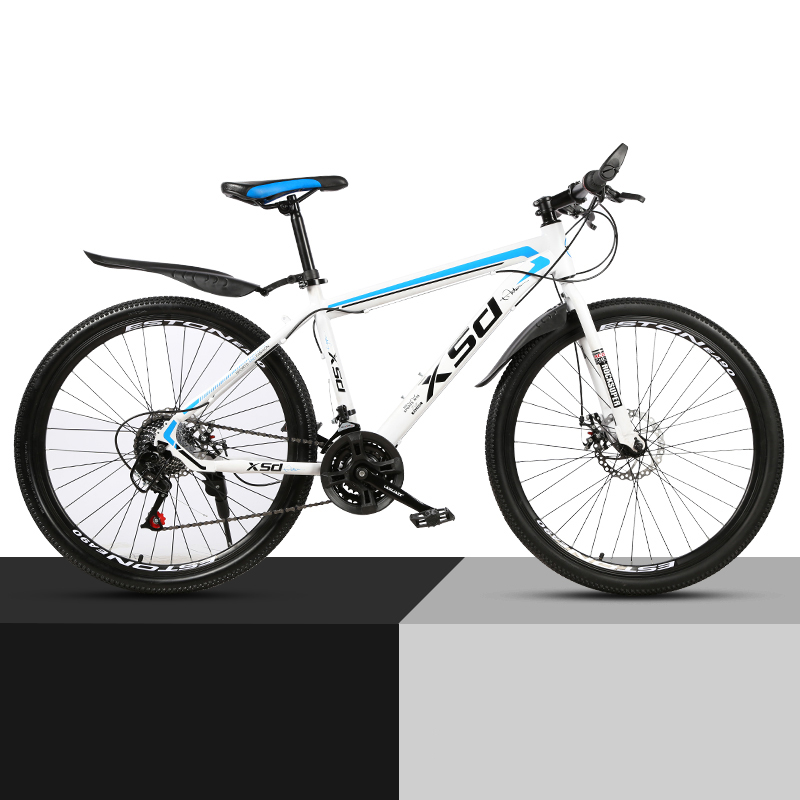 26-Inch 21/24/27 Speed Mountain Bicycle Shock Absorption And Speed Change Mechanical Disc Brake Student Adult Bike