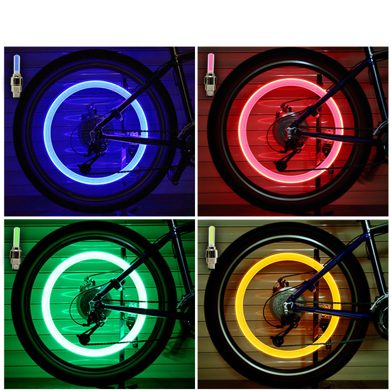 LED Wheel Tire Valve Caps For Car or Bicycle
